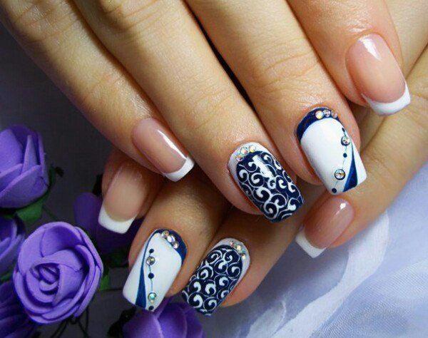 Дизайн ногтей-зима
