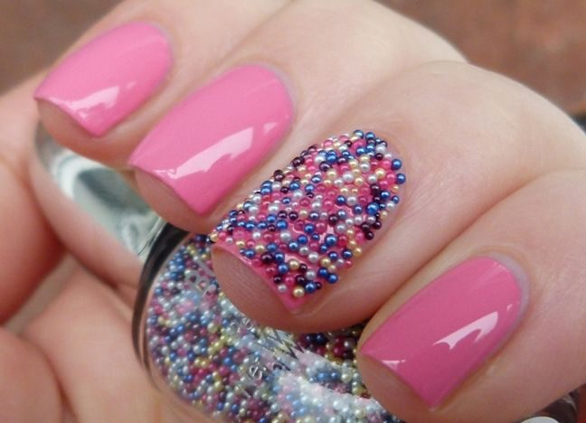 Красивый шеллак на ногтях