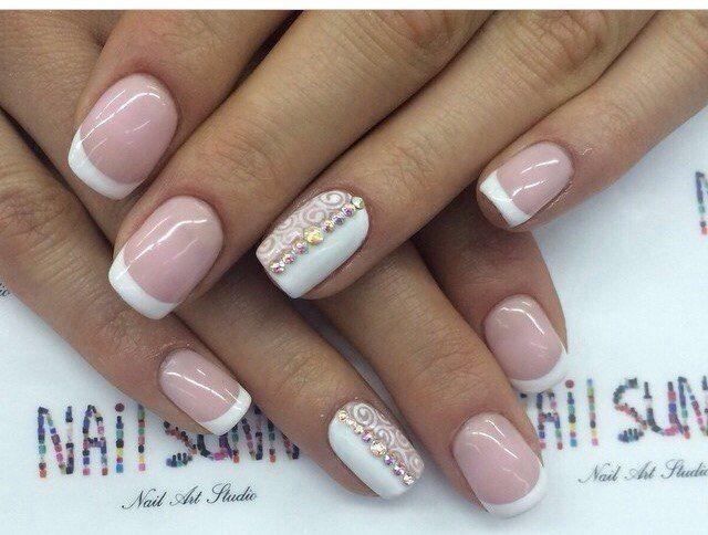 Дизайн очень коротких ногтей