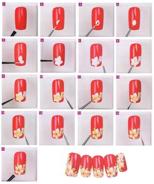 Как нарисовать узоры на ногтях в домашних