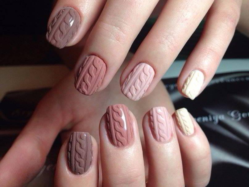 Узоры на ногтях вязание
