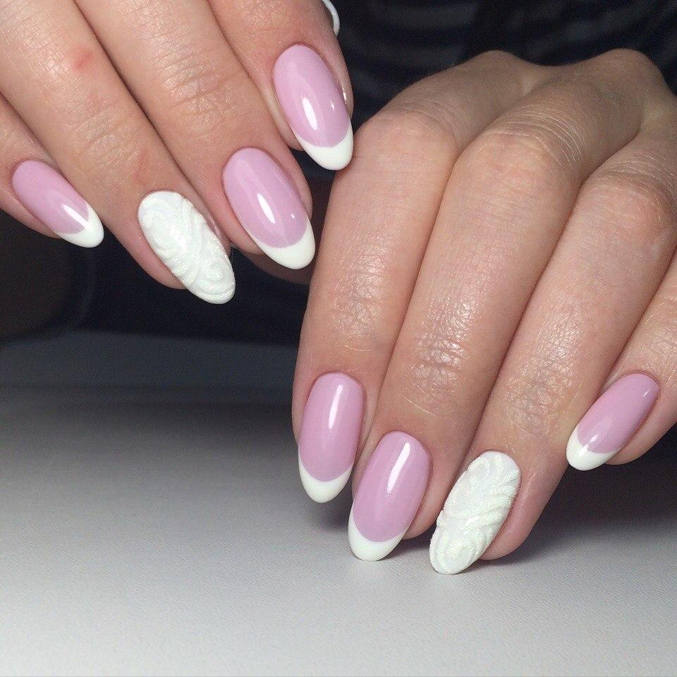 Френч на овальных ногтях фото 2018 новинки