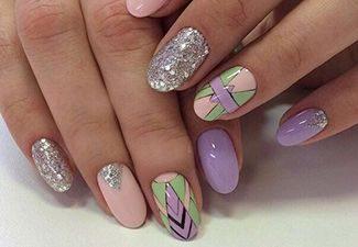 Маникюр на круглые ногти фото