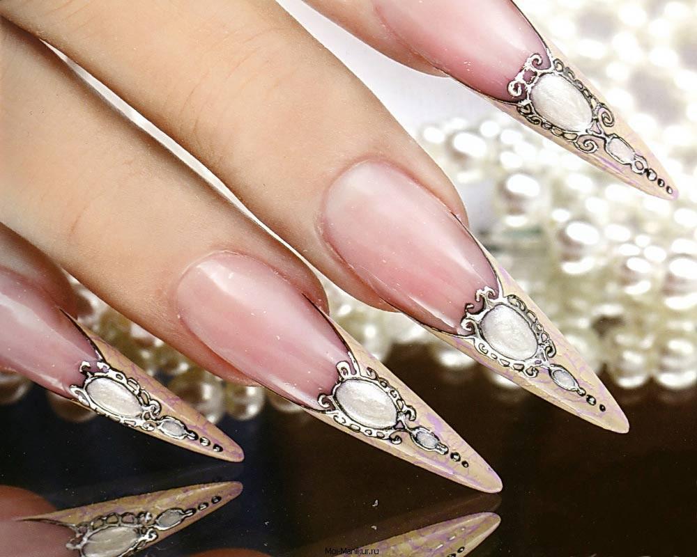 Камни на ногти фото