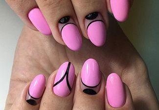 Дизайн на круглые ногти