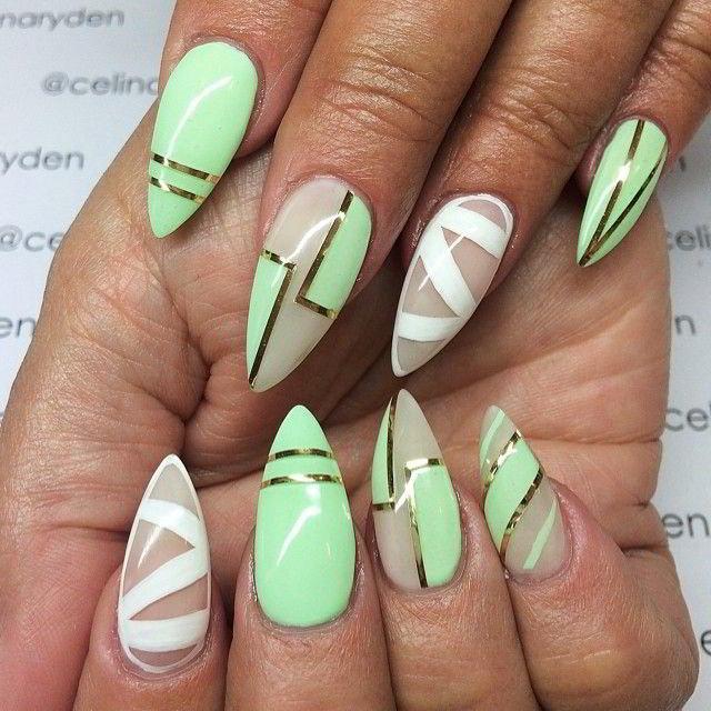 Ногти стилеты дизайн фото