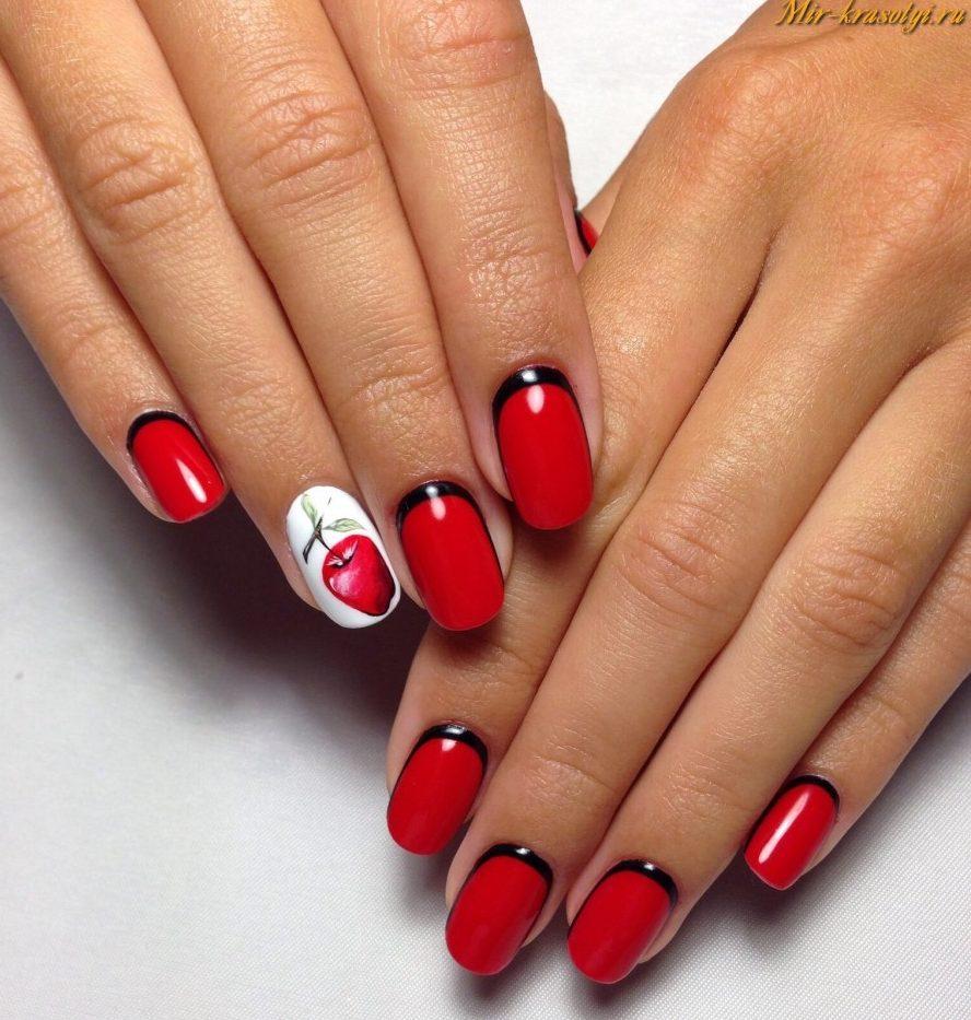 Фото ногти гель лак с красным