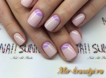 Маникюр на короткие ногти фото дизайн 2017 гель