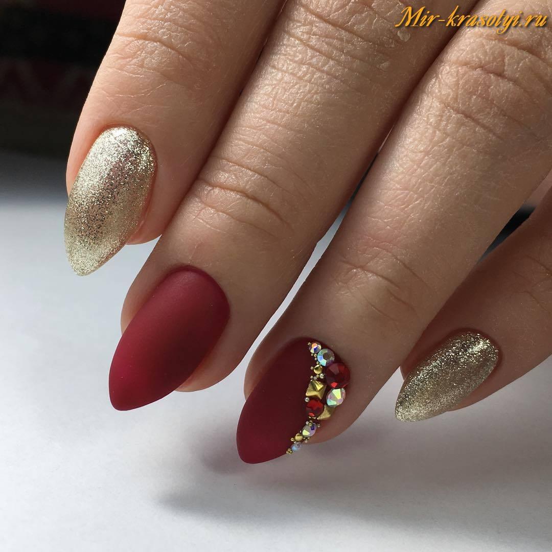 Ногти серебро и золото фото