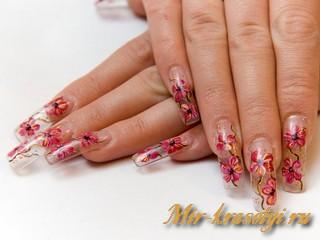 Маникюр на длинные ногти фото дизайн 2017