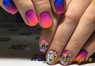 Дизайн ногтей 2017 фото новинки френч весна лето омбре