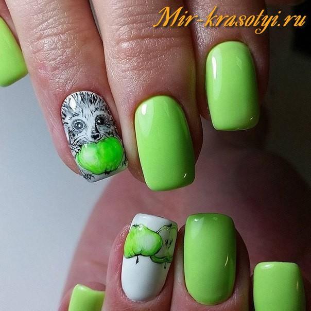 Ежик на ногтях