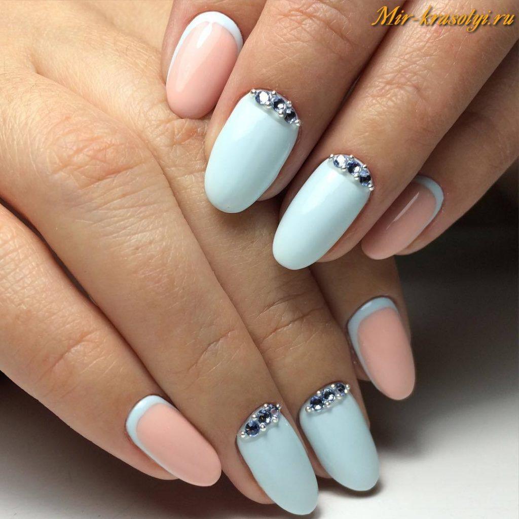 Маникюр на овальные ногти весна 2017