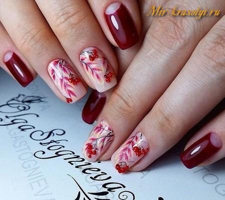 Новинки осени дизайн ногтей