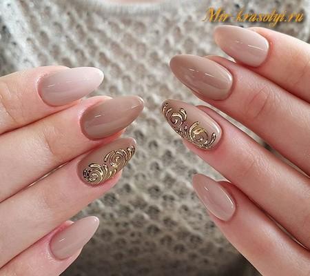 Маникюр на длинные ногти весна лето 2017