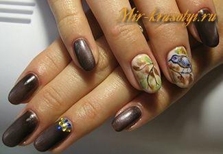 Маникюр на короткие ногти весна лето 2017