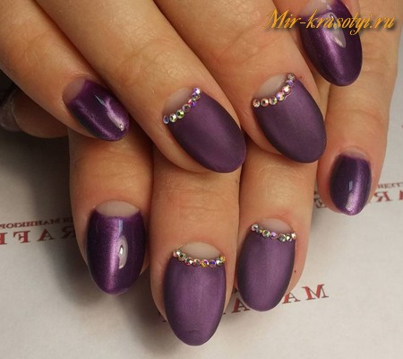 Фиолетовые ногти дизайн гель лак 2017-2018