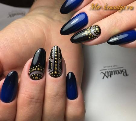 Ногти на новый год 2018