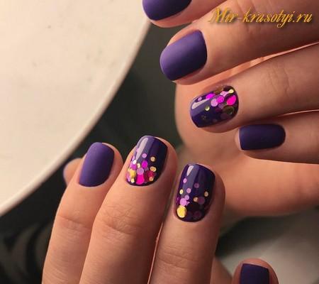 Матовые короткие ногти дизайн 2017-2018