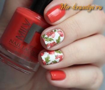 Дизайн ногтей с красным цветом