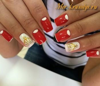Красный дизайн ногтей 2017