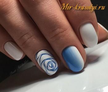 Маникюр на овальные ногти 2018