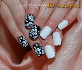 Черный дизайн ногтей 2018