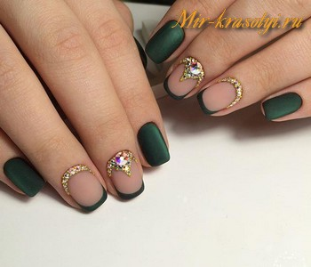 Осенний френч дизайн ногтей фото