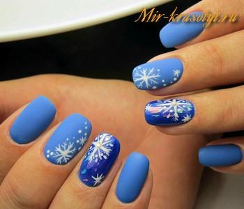 Зимний дизайн ногтей 2017 Екатерины Мирошниченко