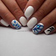Белый дизайн ногтей 2018