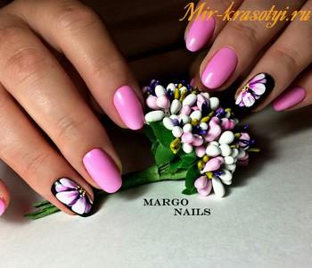 Маникюр шеллак весна лето 2018