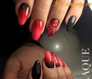 Красный маникюр на коротких ногтях фото 2018