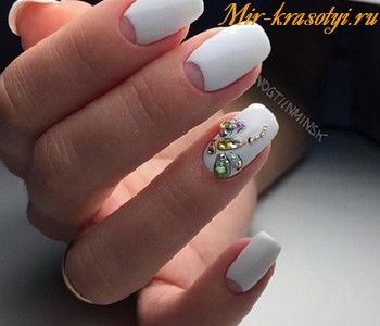 Черно белый дизайн ногтей 2018