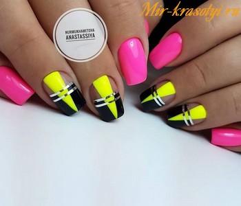 фото ярких ногтей дизайн