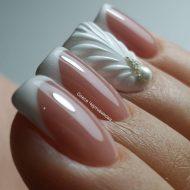 Свадебный дизайн ногтей 2018