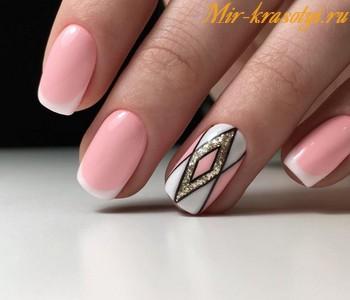 Дизайн ногтей 2018 френч