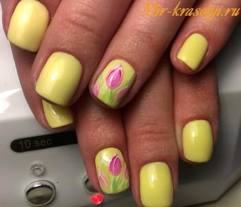 Маникюр тюльпаны фото