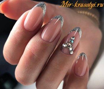 Нарощенные Ногти Дизайн Френч Дизайн Фото | 300x350