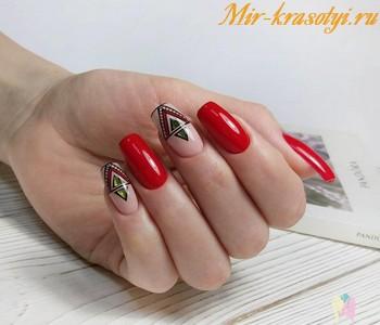 Красный маникюр 2018 модные тенденции фото