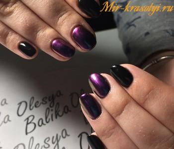 Фиолетовый маникюр 2018 модные тенденции фото