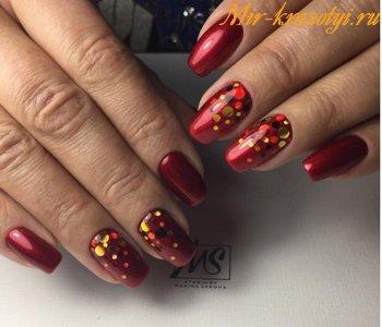 Красные ногти дизайн 2018 фото новинки