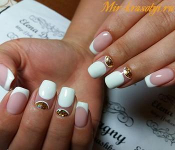 Нежный Белый Френч на Ногтях (50)