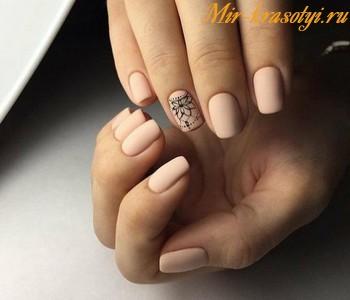 Дизайн ногтей осень зима 2018 матовые