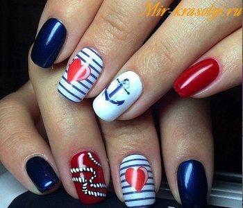 Дизайн ногтей морская тематика фотоДизайн ногтей морская тематика фото