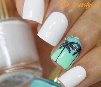 Дизайн ногтей морская тематика фото