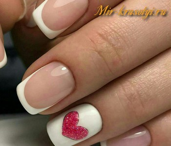 Красивый френч с рисунком на ногтях фото 2018 новинки