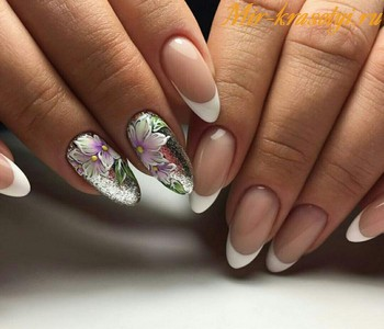 Дизайн ногтей 2018 фото новинки осень френч с рисунком