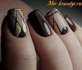 Осенний дизайн ногтей 2018 фото новинки красивый