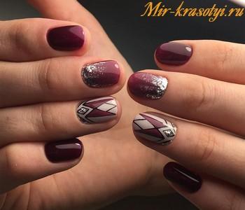 Дизайн ногтей гель лаком фото новинки 2018 осень