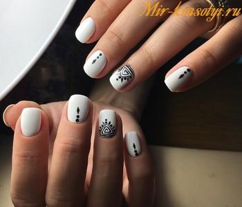 Маникюр на короткие ногти фото дизайн 2018 гель лак осень